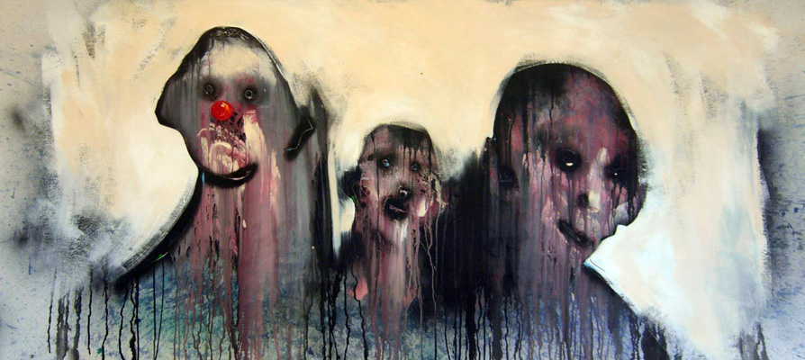 """DESCHÊNES Robert. """"les rois sans couronne"""" 28"""" x 66"""" acrylique sur toile 2016. ©"""
