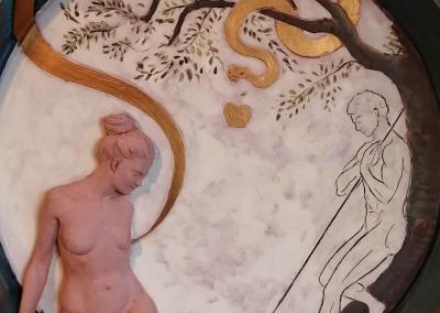 Marcello Giorgi_adam and eve detailed_polychrome_terracotta